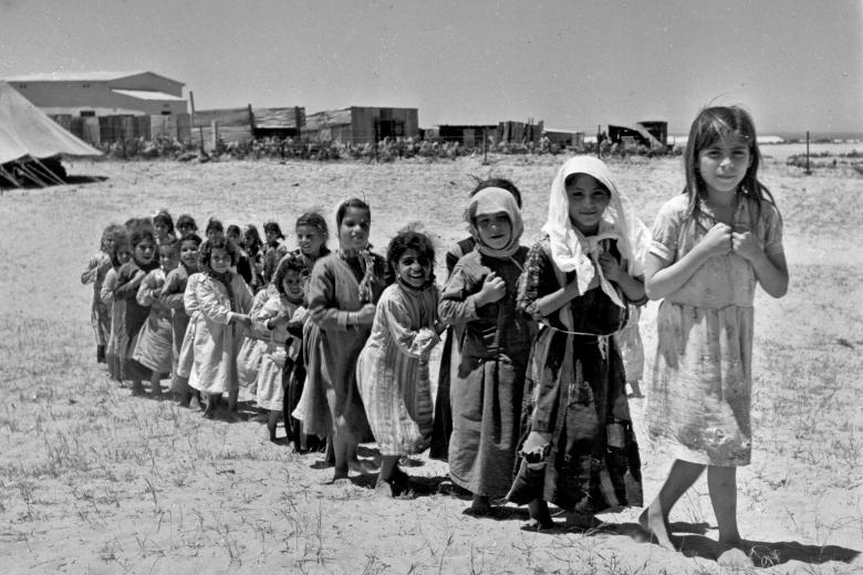 Children walking in a line