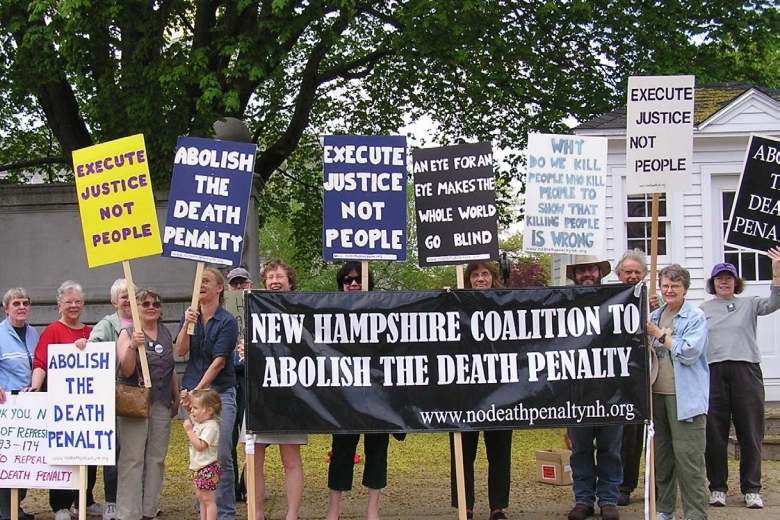 Death penalty protest in 2010
