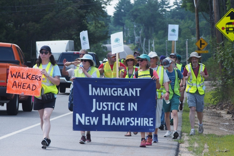 New Hampshire march for Immigrant Justice