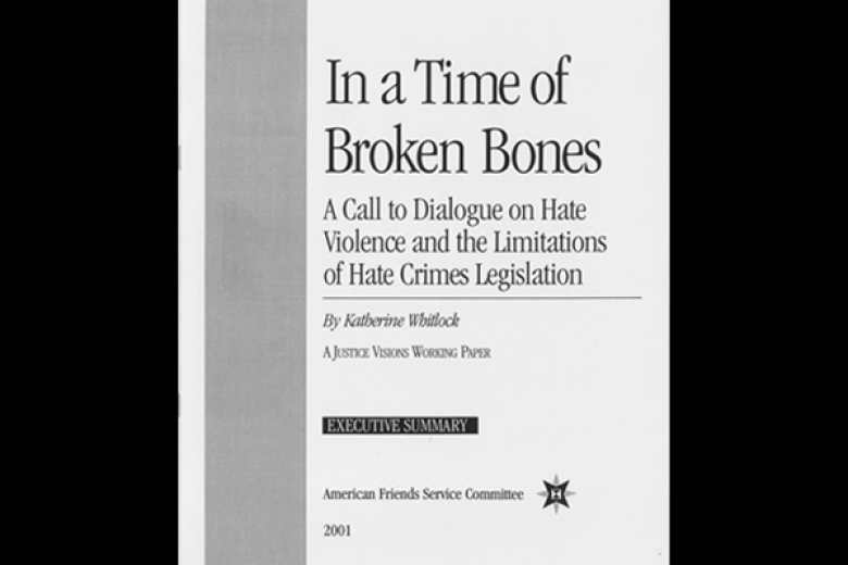 "Cover of an executive summary called ""In a Time of Broken Bones."""
